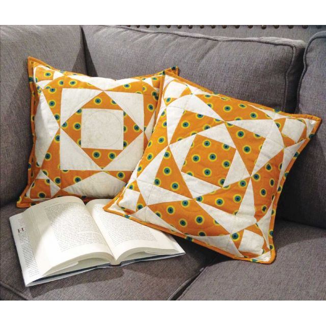 Storm at Sea Pillow Cut Loose Press Pattern by Cut Loose Press Patterns Cut Loose Press Patterns - OzQuilts