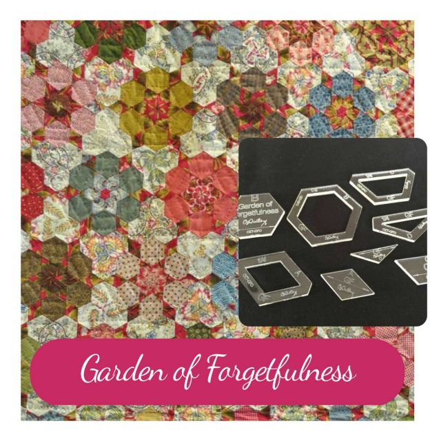 The Garden of Forgetfulness Template Set from Millefiori Quilts 2 - Original Size by  EPP Templates - OzQuilts