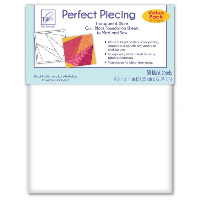 June Tailor Perfect Piecing Foundation Sheets (50) by June Tailor Foundation Papers - OzQuilts