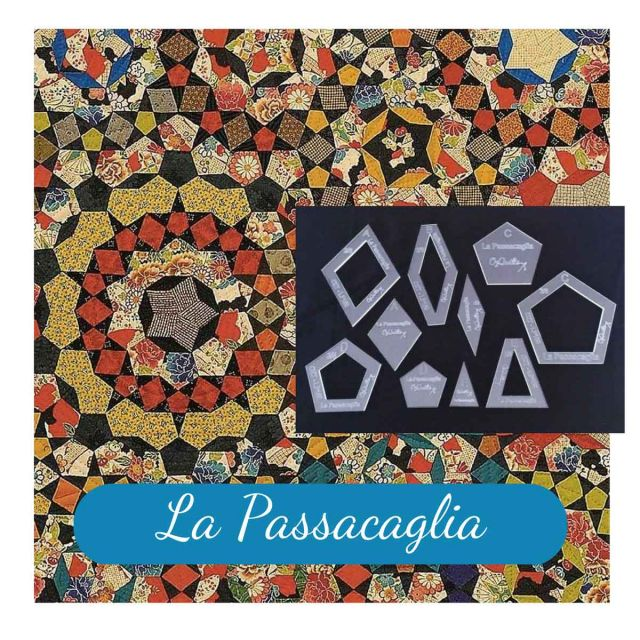 "La Passacaglia Halo Template Set from Millefiori Quilts - 1.5"" Size by  EPP Templates - OzQuilts"