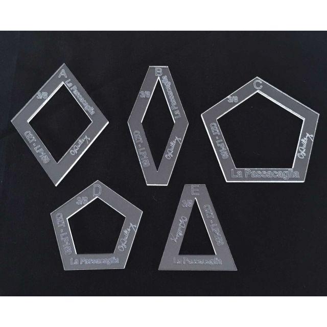 "La Passacaglia Halo Template Set from Millefiori Quilts - 1.5"" Size by  Millefiori Book 1  - OzQuilts"