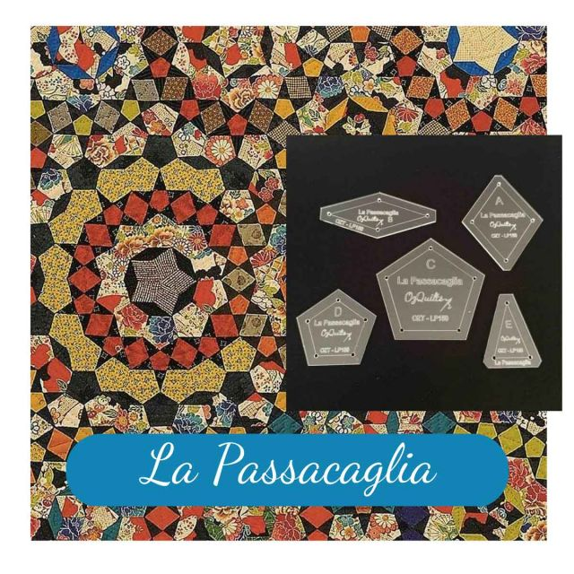 """La Passacaglia Template Set from Millefiori Quilts - Traditional Set in 1.5"""" Size by OzQuilts EPP Templates - OzQuilts"""
