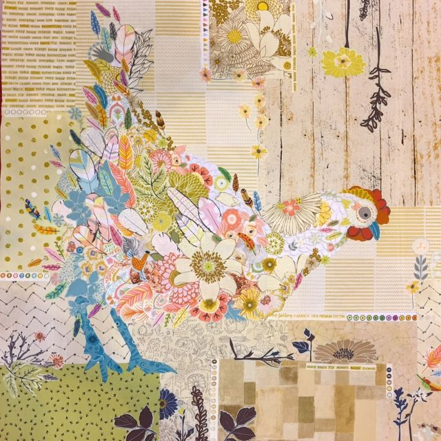Hen Rietta Collage Pattern by Fibreworks by Fibreworks Inc Collage  - OzQuilts