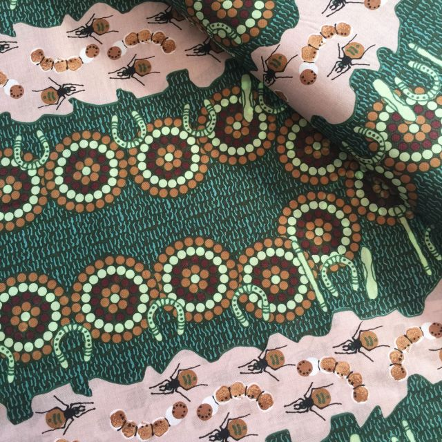 Aboriginal Art Fabric 5 Fat Quarter Bundle - Green by M & S Textiles Fat Quarter Packs - OzQuilts