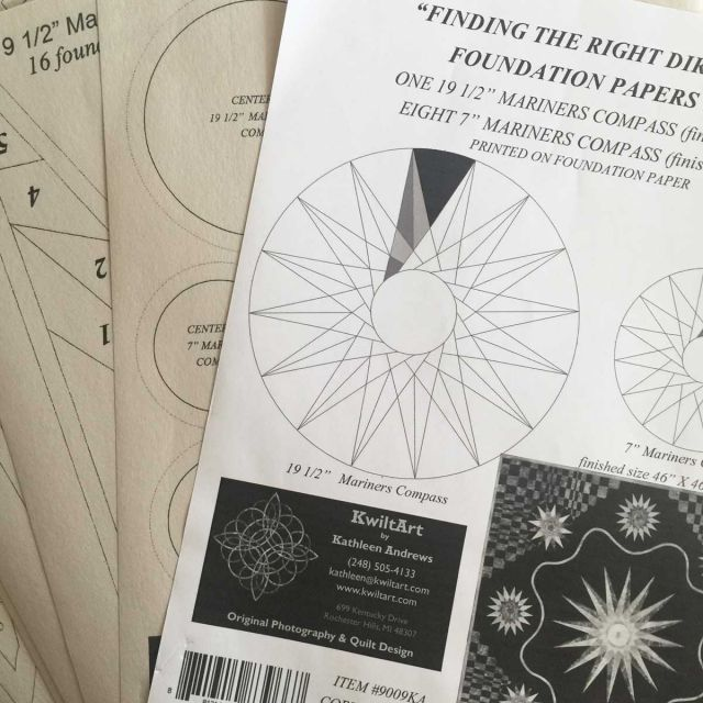 Finding the Right Direction Foundation Papers by Kwilt Art by Kathleen Andrews Patterns & Foundation Papers - OzQuilts