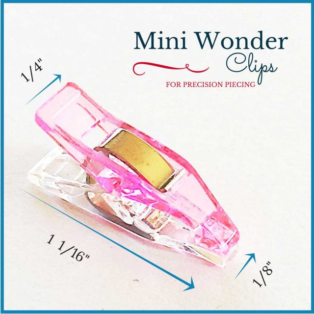"Mini Quilter's Wonder Clips with 1/8"" nose - 25 Pink Mini Clips by OzQuilts Wonder Clips & Hem Clips - OzQuilts"