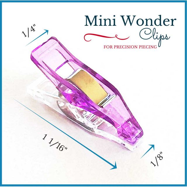 """Mini Sharp Quilter's Wonder Clips with 1/8"""" nose - 25 Purple Mini Clips by OzQuilts Wonder Clips & Hem Clips - OzQuilts"""