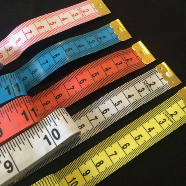 Yellow Tape Measure Extra Long 200cm /79 Inches -Imperial & Metric by OzQuilts - Tape Measures