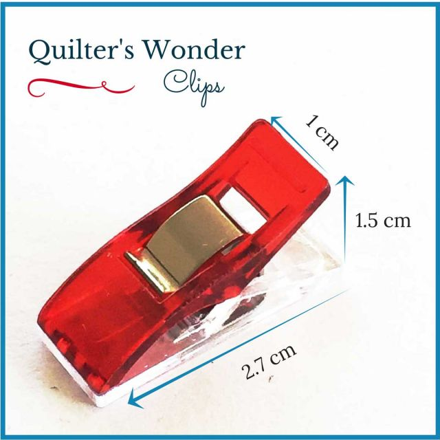 Wonder Clips Red (25) by OzQuilts - Wonder Clips & Hem Clips