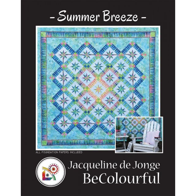 Summer Breeze Pattern & Foundation Papers by Jacqueline de Jongue by BeColourful Quilts by Jacqueline de Jongue Patterns & Foundation Papers - OzQuilts