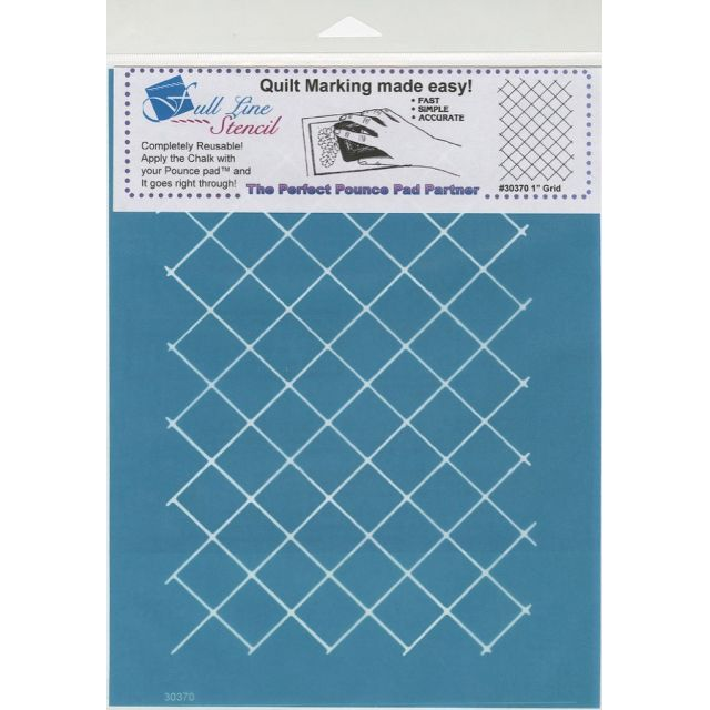 Full Line Stencil One Inch Grid by Hancy Full Line Stencils Pounce Pads & Quilt Stencils - OzQuilts