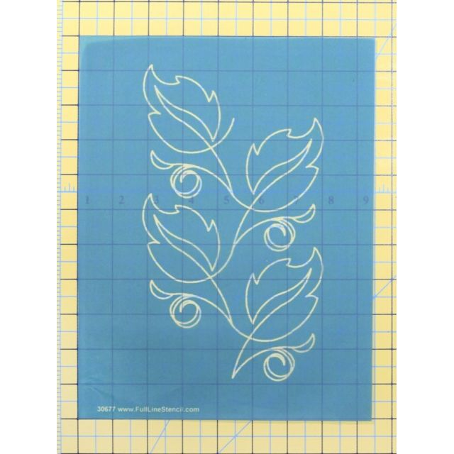 Full Line Stencil Double Le Mae by Hancy Full Line Stencils Pounce Pads & Quilt Stencils - OzQuilts