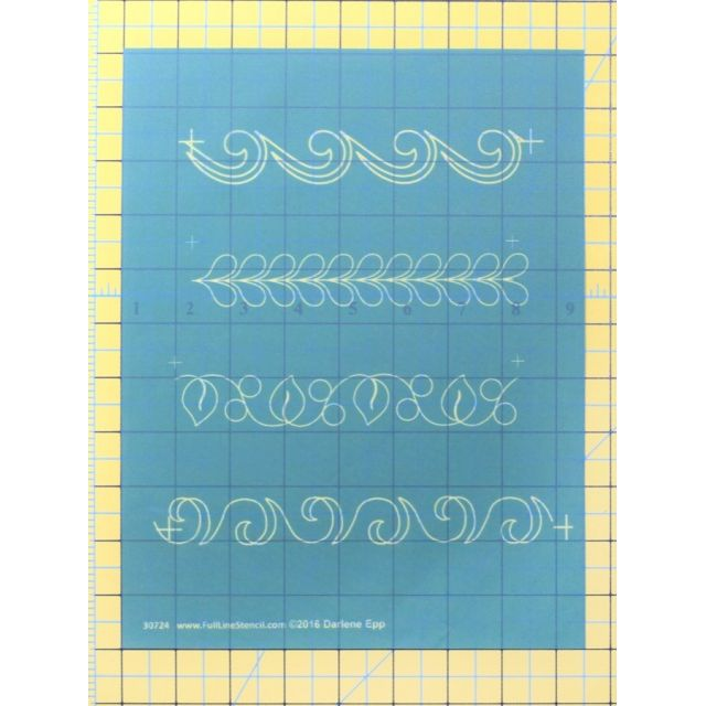 Full Line Stencil One Inch Borders By Darlene Epp by Hancy Full Line Stencils Pounce Pads & Quilt Stencils - OzQuilts