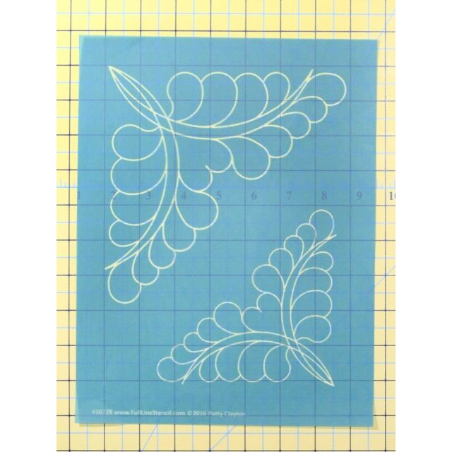 Full Line Stencil Jewlie Corner Triangle by Hancy Full Line Stencils Pounce Pads & Quilt Stencils - OzQuilts