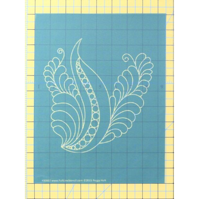 Full Line Stencil Dream Feather Elegant Bird by Hancy Full Line Stencils Pounce Pads & Quilt Stencils - OzQuilts