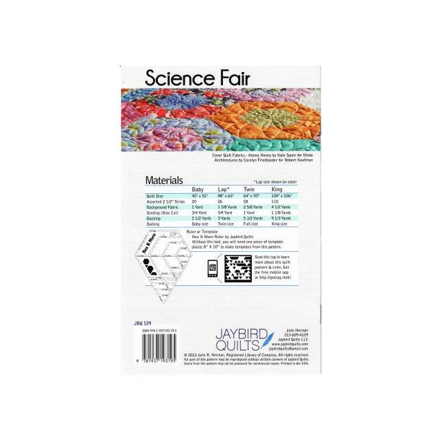 Science Fair Quilt Pattern by Jaybird Quilts - Quilt Patterns