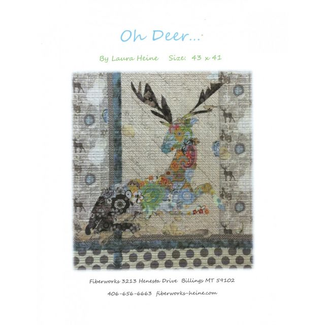 Oh Deer Collage by Fibreworks Inc Collage  - OzQuilts