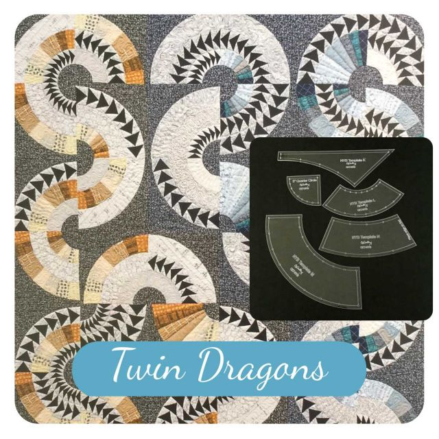 Twin Dragons Template Set from New York Beauties & Flying Geese Book by Carl Hentsch by OzQuilts New York Beauty Templates - OzQuilts