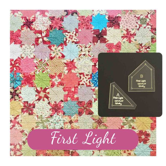 First Light Patchwork Template Set from Millefiori Quilts 2 by OzQuilts EPP Templates - OzQuilts