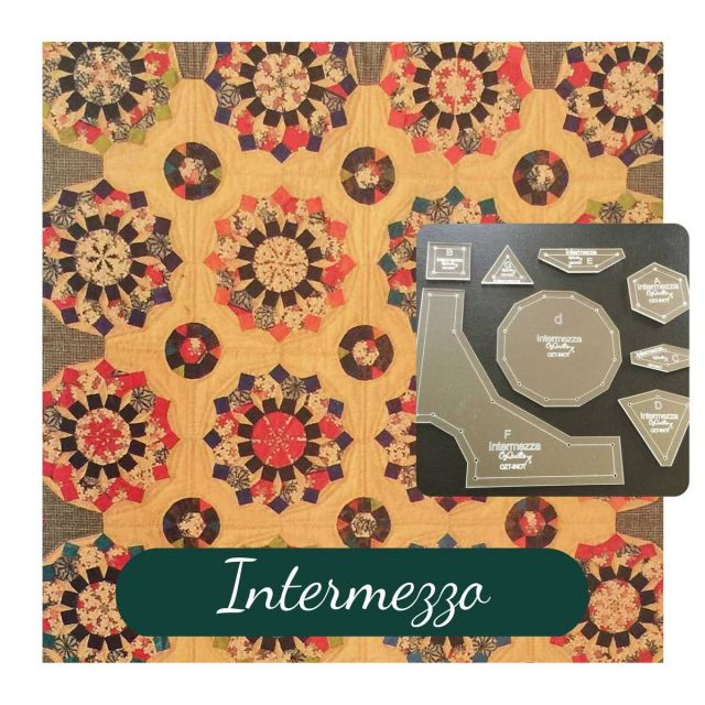 Intermezza Template Set from Millefiori Quilts 3 by OzQuilts EPP Templates - OzQuilts