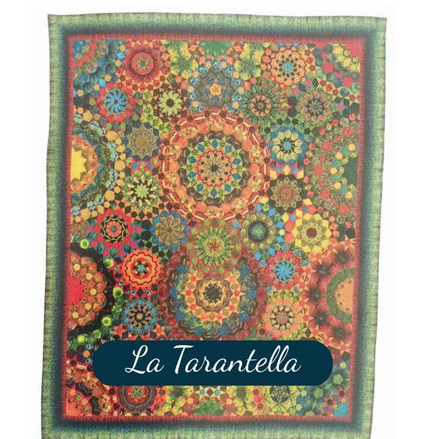 La Tarantella Template Set from Millefiori Quilts 3- Traditional Set in Original Size by OzQuilts - Millefiori Book 1