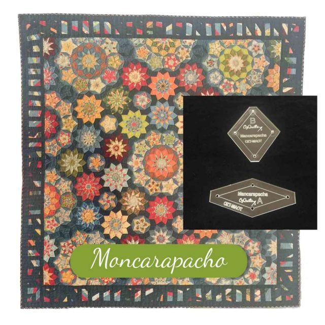 Moncarapacho Template Set from Millefiori Quilts 3- Traditional Set in Original Size by OzQuilts EPP Templates - OzQuilts