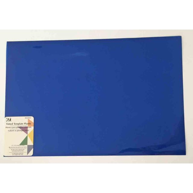 EZ Quilting Tinted Blue Plastic Template Sheets by EZ Quilting Plastic Sheets - OzQuilts