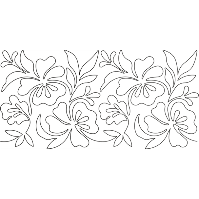 Full Line Stencil Blooming Things 8-1/2in by Hancy Full Line Stencils Pounce Pads & Quilt Stencils - OzQuilts