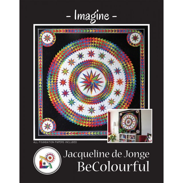 Imagine Pattern & Foundation Papers by Jacqueline de Jongue by BeColourful Quilts by Jacqueline de Jongue Patterns & Foundation Papers - OzQuilts