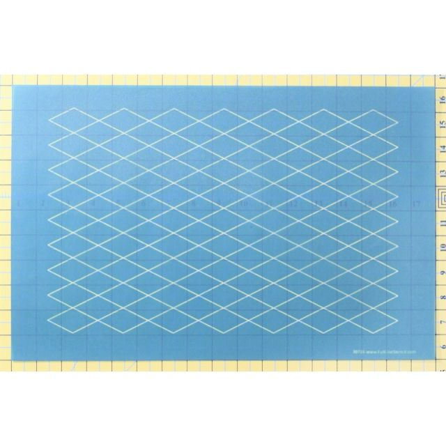 Full Line Stencil Diamond Grid by Hancy Full Line Stencils Pounce Pads & Quilt Stencils - OzQuilts