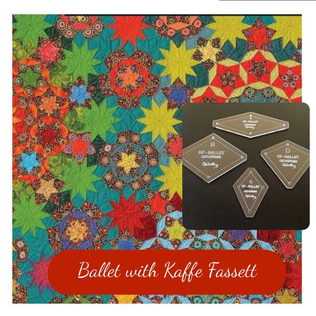 "Ballet with Kaffe Fassett Template Set from Millefiori Quilts 2 - Traditional Set in 2"" Size by  EPP Templates - OzQuilts"