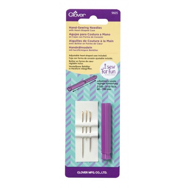 Clover Hand Sewing Needles with Heart Shaped case- I Sew For Fun by Clover Hand Sewing Needles - OzQuilts
