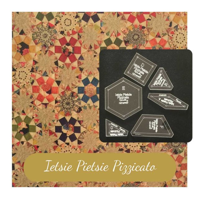 Ietsie Pietsie Pizzicato Template Set from Millefiori Quilts 3 by OzQuilts EPP Templates - OzQuilts