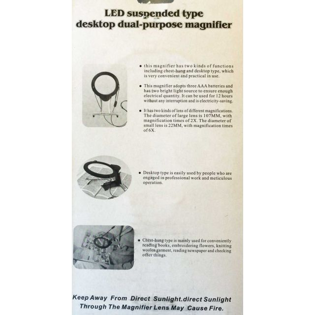 LED Magnifier & Light with Necklace & Desk Stand by OzQuilts Lamps & Magnifiers - OzQuilts