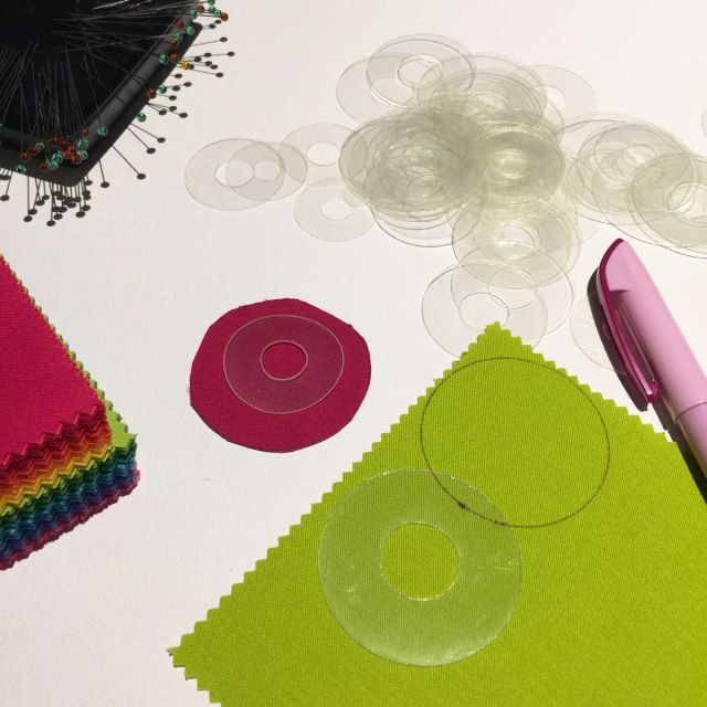 "Small Mylar Heat Resistant Circles Templates Set to 1"" by OzQuilts Heat Resistant Mylar - OzQuilts"
