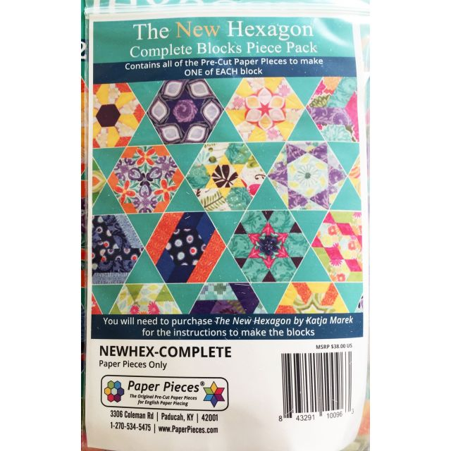 The New Hexagon Complete Paper Piece Pack by Paper Pieces Paper Pieces Kits & Templates - OzQuilts