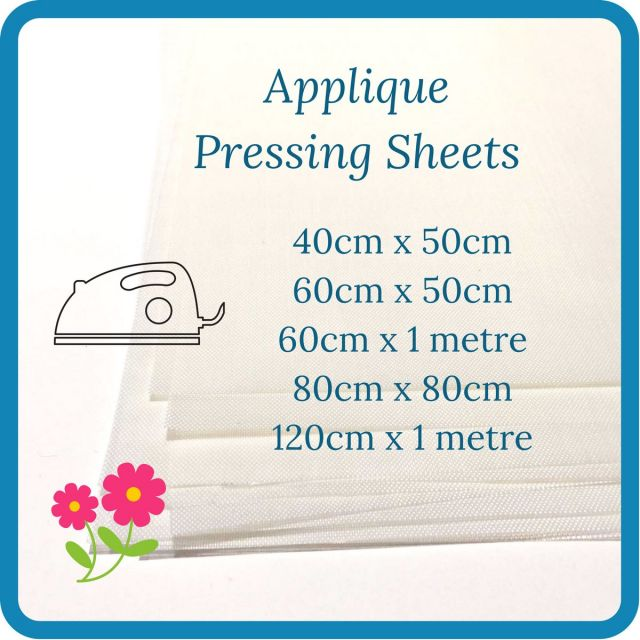 Transparent White Teflon Coated Applique Pressing Sheet Various Sizes by OzQuilts - Applique Pressing Sheets