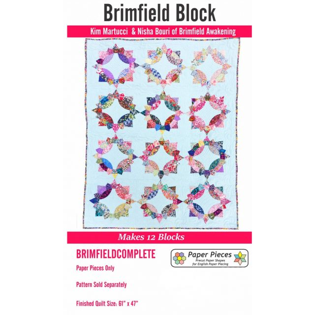 Paper Piecing Pack For Brimfield Quilt -  Makes 12 Blocks (No Pattern) by Paper Pieces Paper Pieces Kits & Templates - OzQuilts