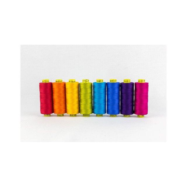 Wonderfil Spagetti 12wt Cotton - 8 x 200 Yard spools - Brights by Wonderfil  Thread Sets - OzQuilts