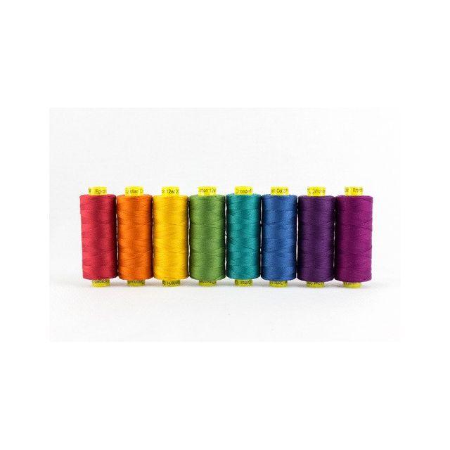 Wonderfil Spagetti 12wt Cotton - 8 x 200 Yard spools - Jewels by Wonderfil  Thread Sets - OzQuilts