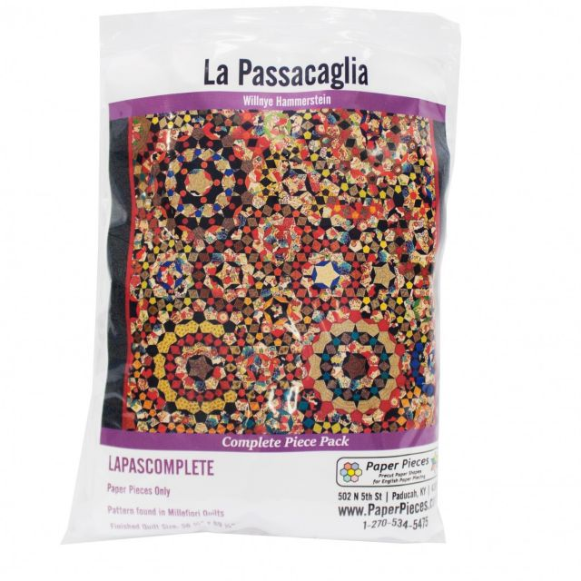 La Passacaglia Paper Piecing Pack by Paper Pieces Millefiori Book 1  - OzQuilts
