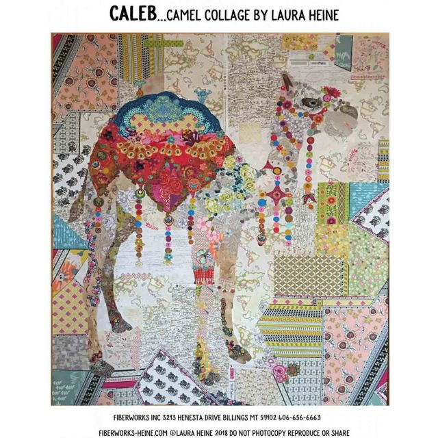 Caleb The Camel Collage Pattern by Fibreworks Inc Collage  - OzQuilts
