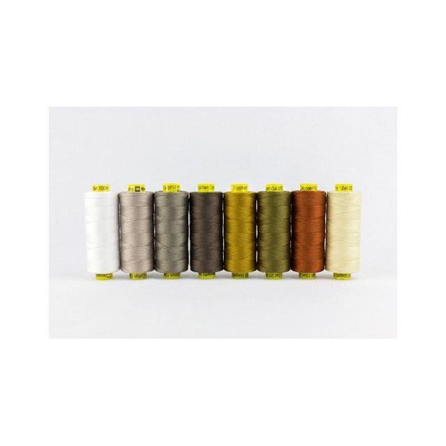 Wonderfil Spagetti 12wt Cotton - 8 x 200 Yard spools - Neutrals by Wonderfil  Thread Sets - OzQuilts