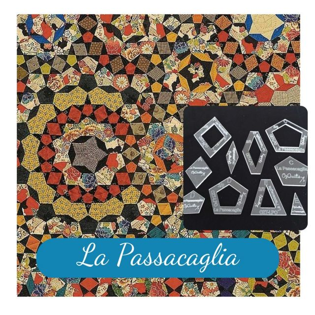 La Passacaglia Halo Template Set from Millefiori Quilts - Original Size by  EPP Templates - OzQuilts