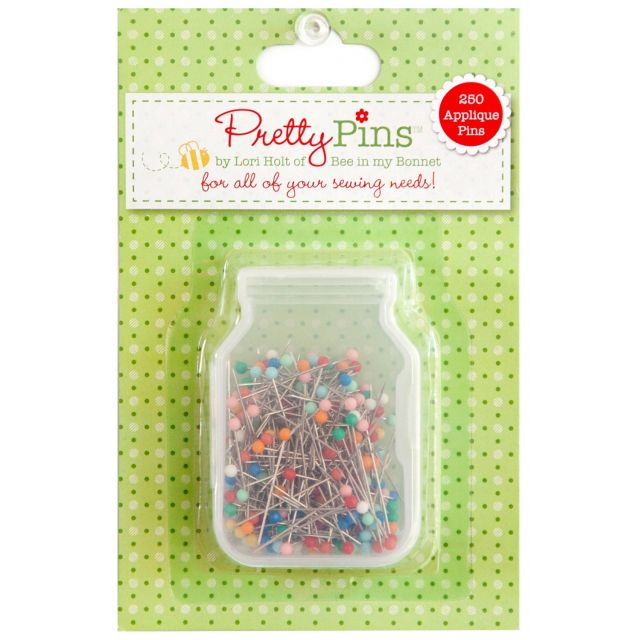 Lori Holt Pretty Pins - Applique Pins Box Of 250 by Lori Holt from Bee in My Bonnet Appique Pins - OzQuilts