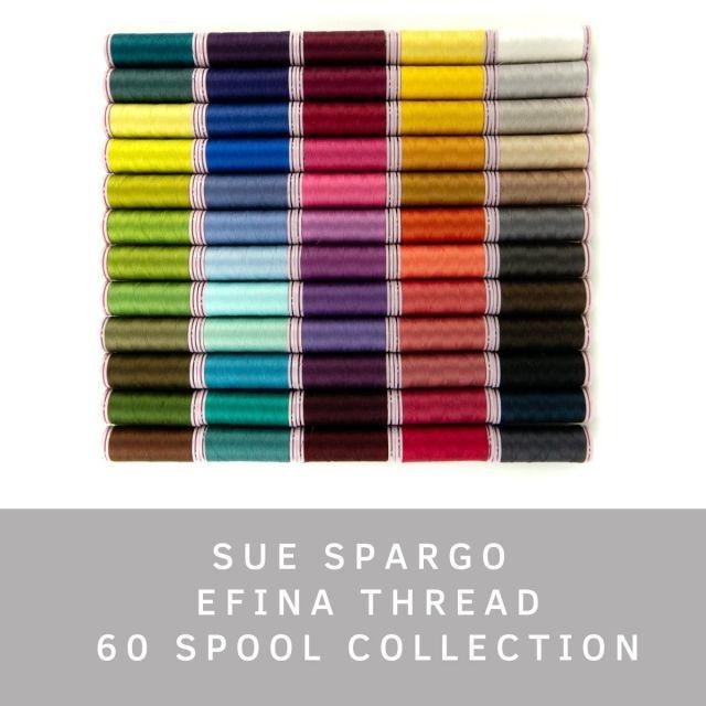 Sue Spargo Efina Cotton Thread Full Set by Sue Spargo Efina Cotton - Sue Spargo Efina 60wt Cotton