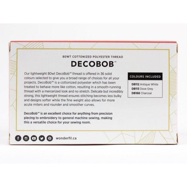Violet Craft for Wonderfil DecoBob Thread Pack by Wonderfil Decobob Cottonised Poly - DecoBob 80wt Cottonised Poly