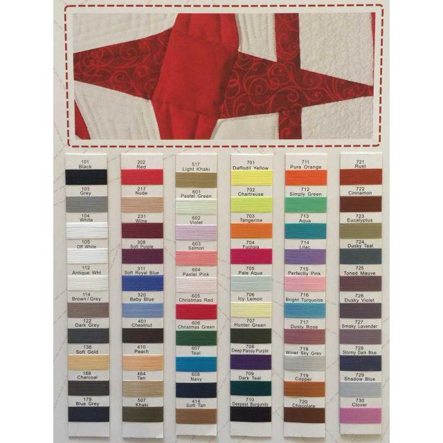 Wonderfil Invisafil Thread Colour Chart by Wonderfil  Thread Colour Charts - OzQuilts
