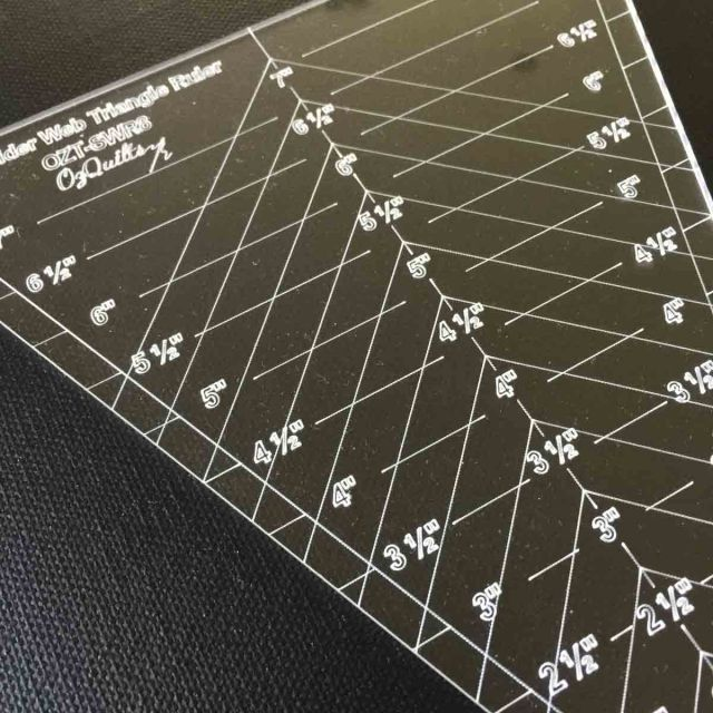 """45 Degree Triangle 8"""" Tall Ruler by  Custom Quilt Template Sets - OzQuilts"""