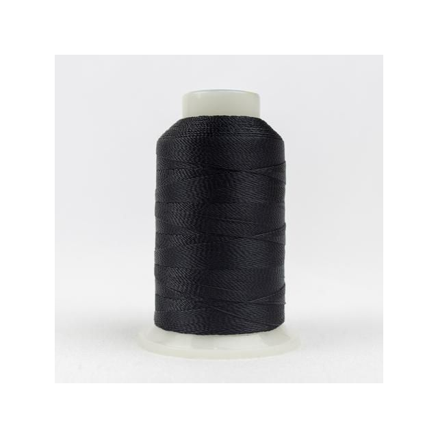 Wonderfil Accent Black (AC160) 12wt Rayon Thread 400m (437yd) spool by Wonderfil  Accent 12wt Rayon - OzQuilts